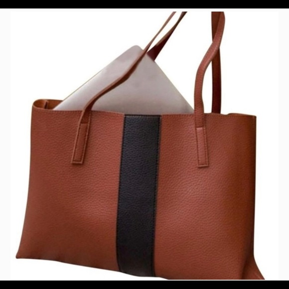 Vince Camuto Vegan Carryall Brown/black